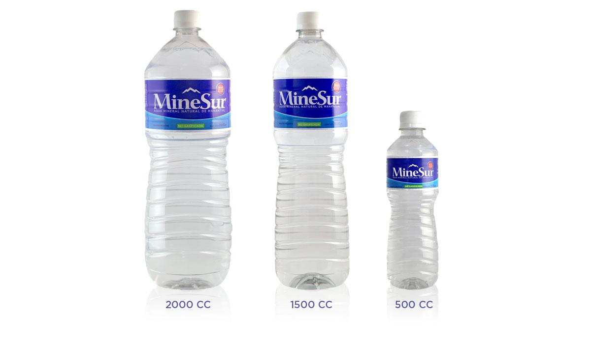 botellas de agua minesur