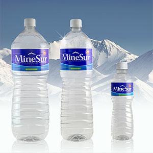 Botella de agua mineral Minesur
