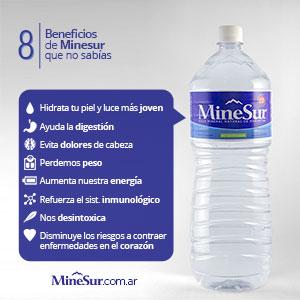 Beneficios del agua mineral Minesur que no sabías